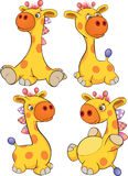 Set of toy giraffes cartoon Royalty Free Stock Image