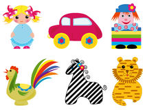 Set of toy icons Royalty Free Stock Photography