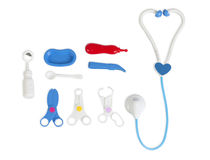 Set of toy medical equipment isolated Royalty Free Stock Photography