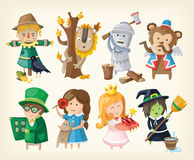 Set of toy personages from fairy tales. Set of cartoon toy personages from fairy tales Stock Photography