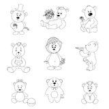 Set toy teddy bears Royalty Free Stock Images