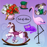 Set of toys and animals Royalty Free Stock Photography