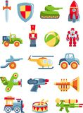 Set of toys for boys Royalty Free Stock Image