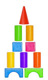 Set of toys, colorful plastic Royalty Free Stock Photos
