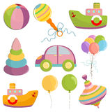 Set of toys illustration Royalty Free Stock Photo