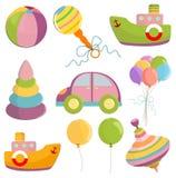 Set of toys illustration Royalty Free Stock Photo