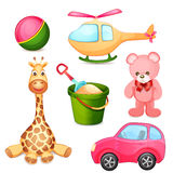Set of toys isolated on white Royalty Free Stock Photo