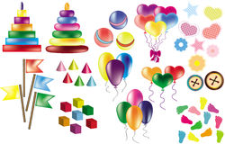 Set of toys for kids Stock Photography