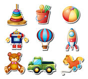 Set of toys stickers Stock Photo