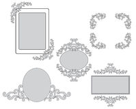 Set - tracery and frames for design - vector Royalty Free Stock Images