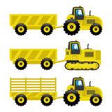 Set of tractors. Stock Images