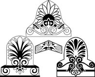 Set of traditional architectural elements stencil Royalty Free Stock Photo