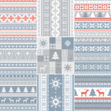 Set of traditional Christmas patterns. In scandinavian style Stock Images
