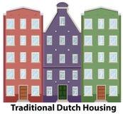 Set of traditional dutch housing. Illustration stock illustration
