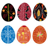 Set of traditional  easter eggs Stock Photo