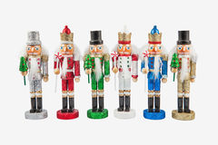 Set of traditional figurines christmas nutcrackers Royalty Free Stock Images