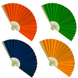 Set traditional Folding Fans Stock Photo