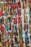 Set of traditional hand made shoes. Set of traditional hand made Yemeni shoes Stock Photos
