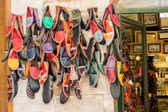 Set of traditional hand made shoes. Set of traditional hand made Yemeni shoes Stock Images