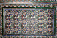 Set of traditional Islamic (Moorish) ceramic tiles, Plaza de Espana in Seville, Andalusia, Spain Royalty Free Stock Photo