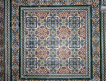 Set of traditional Islamic (Moorish) ceramic tiles, Plaza de Espana in Seville, Andalusia, Spain Royalty Free Stock Photography