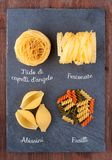Set of traditional Italian pasta Royalty Free Stock Photo