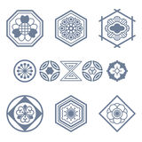 Set with traditional japanese design elements Royalty Free Stock Images