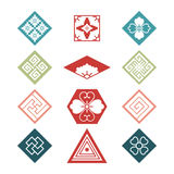 Set with traditional japanese design elements Stock Photos
