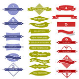 Set of traditional and modern design labels Stock Image