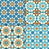 Traditional moroccan mosaic patterns vector illustration