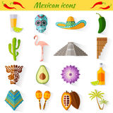 Set of traditional national symbols of Mexico Stock Photo