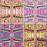 Set of traditional ornamental paisley bandanna. Hand drawn background with artistic pattern. Stock Photos