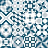 Set traditional patchwork pattern tiles royalty free illustration