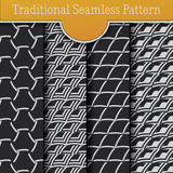 Set of Traditional Seamless Pattern Scale Royalty Free Stock Images