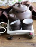 Set for a traditional tea drinking Royalty Free Stock Images