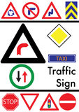Set of traffic icons Royalty Free Stock Photography