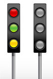 Set of traffic light Royalty Free Stock Photography