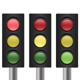 Set of traffic light Stock Photo