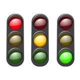 Set traffic light icon. Stock Image