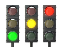 Set of traffic lights Stock Photography