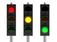 Set of traffic lights Stock Image