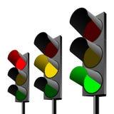 Set of traffic lights Stock Image