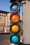 Set of traffic lights for bikers Stock Image