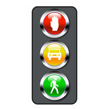 Set of traffic lights Stock Photos