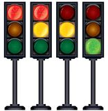 Set of Traffic Lights Variation. Vector Stock Images