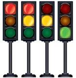 Set of Traffic Lights Variation. Vector Stock Images
