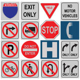 Set of traffic signals. Varying loads. Vector illustration royalty free illustration