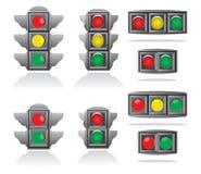 set trafik för lampa Royaltyfria Foton