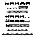 Set of train vectors stock illustration