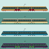 Set of tramtrains Royalty Free Stock Images